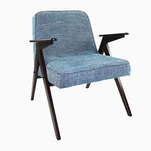 Blue Structural Armchair by Józef Chierowski, 1970s