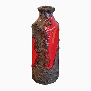 Black and Red Volcanic Nr. 4107 Vase from Marei Keramik, 1970s