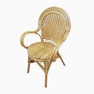 Vintage Armlehnstuhl aus Bambus