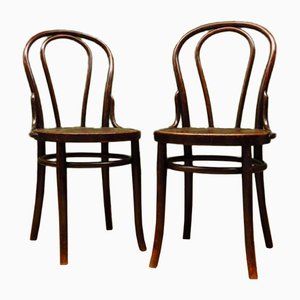 Antique Bentwood No. 18 Vienna Bistro Chairs, Set of 2