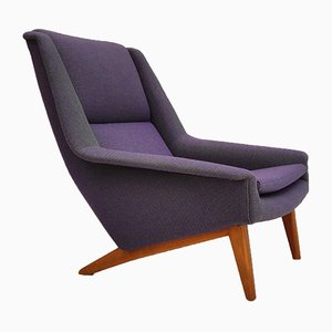 Danish Kvadrat Wool Armchair by Folke Ohlsson for Fritz Hansen, 1960s