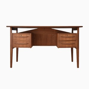 Danish Teak Desk by Gunner Nielsen for Tibergaard, 1960s