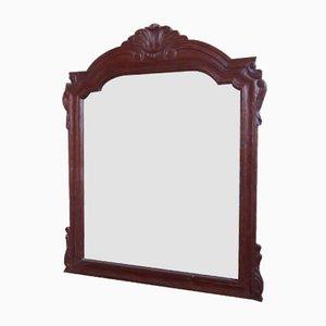 Specchio in noce intagliato, anni '70