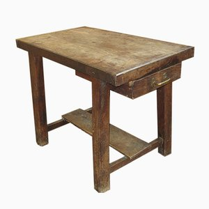 Vintage Chestnut Workbench, 1920s