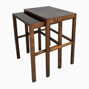 Model H-50 Nesting Tables by Jindřich Halabala for UP Závody, 1930s, Set of 2