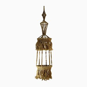 Large Rope Suspended Plant Holder, 1970s