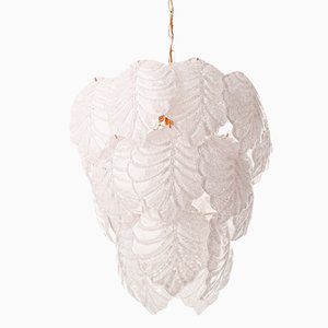 Murano Glass Leaf Chandelier by Mazzega