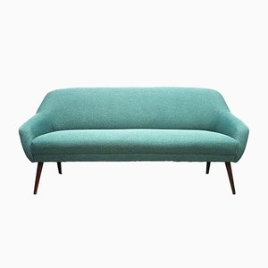 Mid-Century Danish Green Tweed 3-Seater Sofa, 1960s