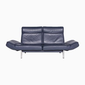 Blue Leather DS 450 3-Seat Sofa with Function by Thomas Althaus for de Sede