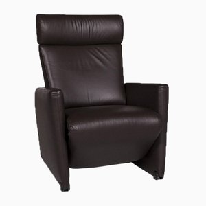 Brown Bico Leather Armchair with Relax Function from Cor