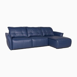 Blue Leather Corner Sofa from Ewald Schillig