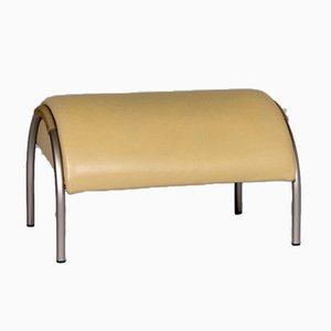 Yellow Leather Stool from Cor