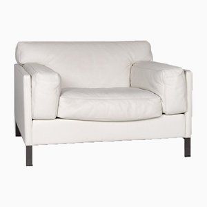White Leather Armchair from Poltrona Frau