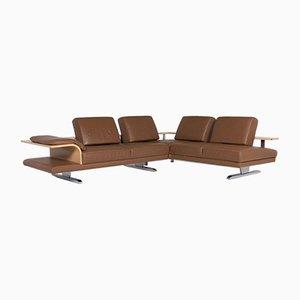 Brown Cognac Leather Ecksfoa Sofa from Himolla