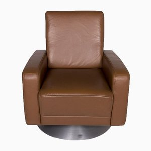 Cognac Leather Armchair from Himolla