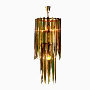 Murano Glass Chandelier by Flavio Poli for Seguso Vetri d'Arte