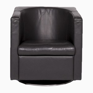 Anthracite Oasis Leather Armchair by Assmann + Kleene for IP Design