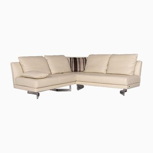 Cream Leather Corner Sofa from Rolf Benz