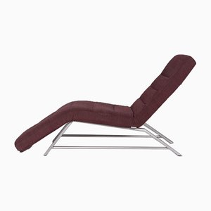 Wine Red Fabric Lounger with Relax Function from Willi Schillig