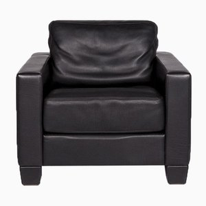 Black Leather DS 17 Armchair from de Sede