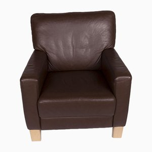 Brown Sample Ring Leather Armchair from Musterring
