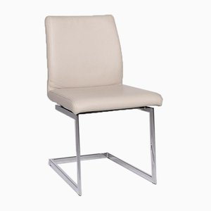 Cream Leather Cantilever Armchair from Joop!