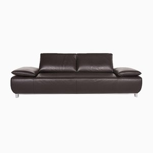 Dark Brown Leather Voltare 2-Seat Sofa with Function from Koinor