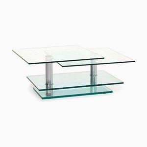 Silberner Glas Couchtisch von Ronald Schmitt