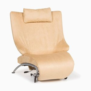 Cream Leather Armchair from WOH