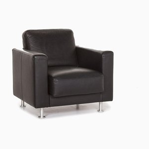 Black Fiesta Leather Armchair from Brühl & Sippold