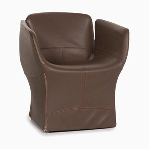 Dark Brown Bloomy Leather Armchair by Patricia Urquiola for Moroso