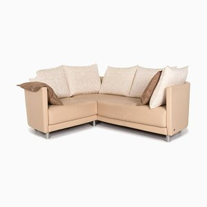 Beige Leather Corner Sofa from Rolf Benz