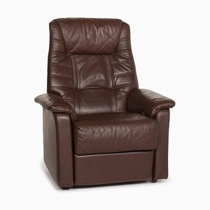 Dark Brown Leather Relax Function Armchair from Himolla