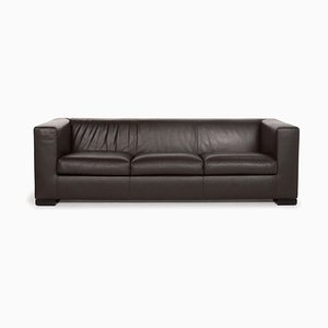 Camin Brown Leather 3-Seat Sofa from Wittmann