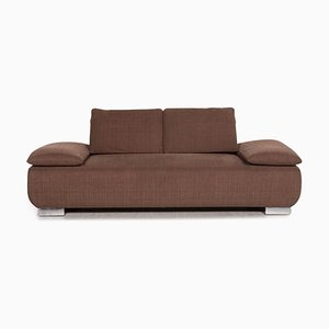Brown Voltare Fabric 2-Seat Function Sofa from Koinor