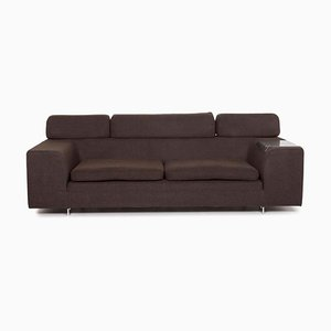 Dark Brown Black Jack Fabric Function Sofa by Steven Schilte for Machalke