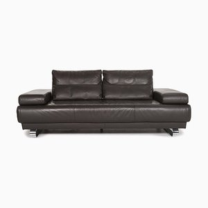 Anthracite Leather 2-Seat Sofa from Ewald Schillig
