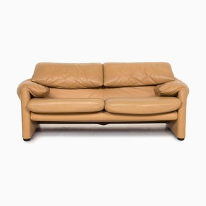 Beige Maralunga Leather 2-Seat Function Sofa from Cassina