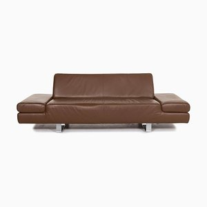 Brown Leather 3-Seat Sofa from Willi Schillig