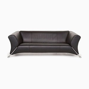 Black 322 Leather 3-Seat Sofa from Rolf Benz