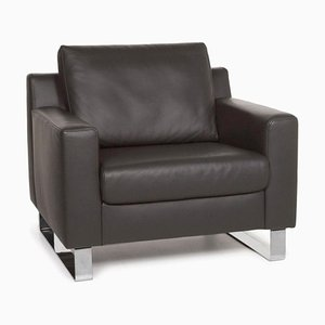 Gray Leather Armchair from Ewald Schillig