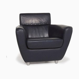 Blue Leather Armchair from Ligne Roset