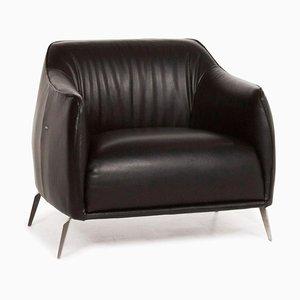 Black Leather Armchair from Nieri