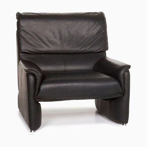 Black Leather Armchair from Laauser