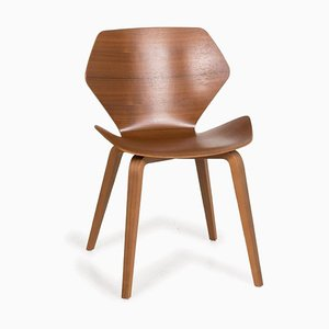 Brown Wood Shrimp Dining Chair from Cor