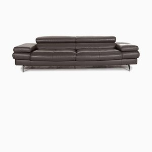 Grey Leather 2-Seat Sofa from Willi Schillig