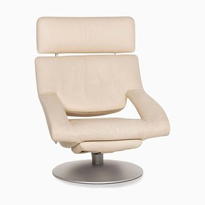 Cream Leather DS 255/11 Armchair with Relax Function from de Sede