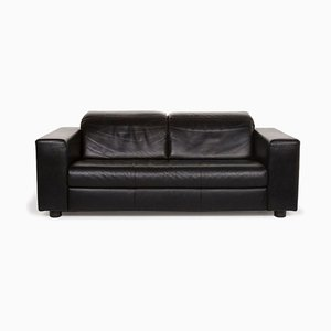 Black Leather 3-Seat Sofa from Rolf Benz