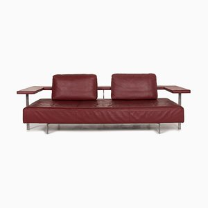 Red Dono Leather 3-Seat Sofa from Rolf Benz