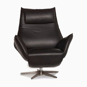Anthracite Safira Leather Armchair with Relax Function from Koinor